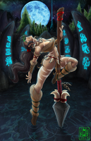 Nidalee: A Night on the Rift by Flowen