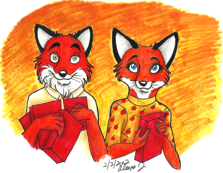 Mr. and Mrs. Fox by Stray-Sketches