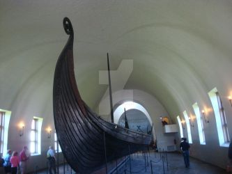 Oseberg viking ship by Fili-Laufeyson