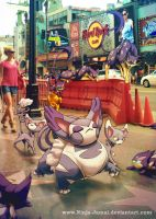 Wild Pokemon conflict on Walk of Fame