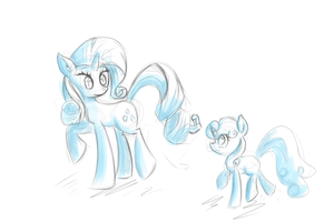 Sketch: Rarity and Sweetie by LlamasWithKatanas