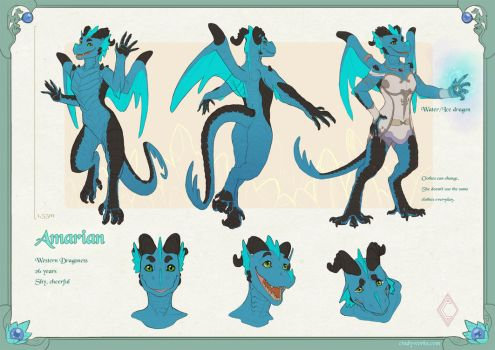Amarian reference sheet by CindyWorks