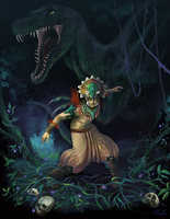 ::Commission:: The Saurian Shaman by Yetinia