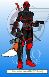 Black Wolf (MK2 Eclipse Armour) by SpiritPrince