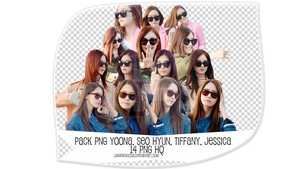 Pack PNG #47: Yoona, SeoHyun, Tiffany and Jessica by jimikwon2518