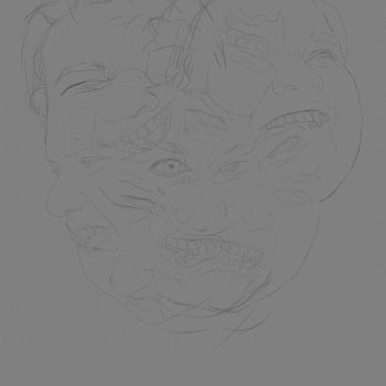 Messy portraits Layer gift animation by lucirgo