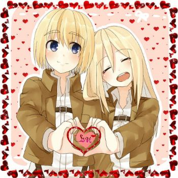 Armin x Christa love gif by Godiee06