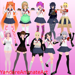 MMD TDA Rivals +DL (OBSOLETE) by YandereAnimateArt