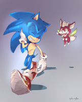Sonic and Chip[AT] by zjedz-goffra