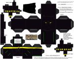 Marvel8: Black Panther Cubee by TheFlyingDachshund