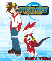 [digimon re:LOAD] Ruby Team by glitchgoat