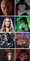 Game of thrones meets Disney: part three by SingerofIceandFire
