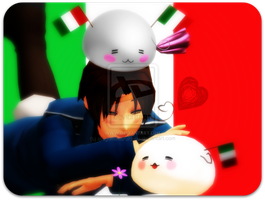 MMDxAPH Italy and Mochi Italies by megumar