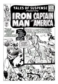 Iron-Man and Cap cover recreation by BroHawk