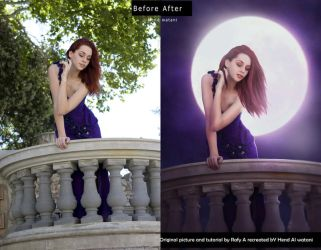 Moonlight before and after by Hend-Watani