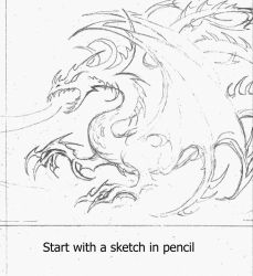 Tutorial: The making of the dragon Dardamesh by taisteng