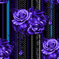 Purple Roses Seamless Background by Gina-101-Creative