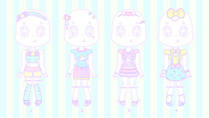 [CLOSED] Adopts || Outfits #1 by Sugary-Stardust