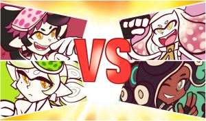 Squid Sisters VS Off The Hook by RayDango