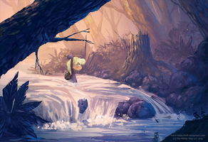 Crossing the River by HeliacWolf