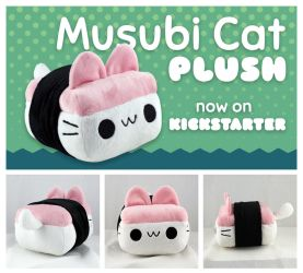 Musubi Cat Plush - Now on Kickstarter by neekko
