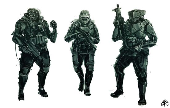 Shocktroopers Sketch by Gillesketting