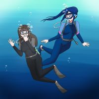 Idol Diver Date [Commission] by UW-FnarFnar