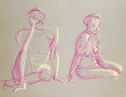 Life Drawing - August 2017 by Gizmoatwork