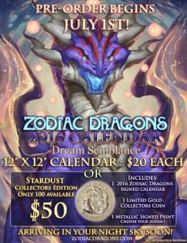 2016 Zodiac Dragons Pre-Order Event July 1st by The-SixthLeafClover