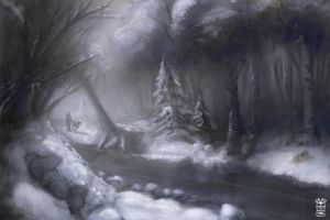 Winter Forest by Hydraw-Art