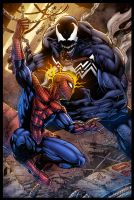 Spidey VS Venom - colors by ZethKeeper