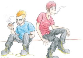 The Smokers by Dummernik