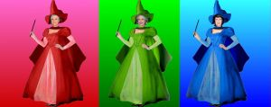 Flora, Fauna, and Merryweather by Valor1387