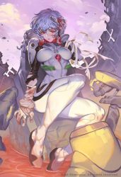 Rei Ayanami Capsule Explodes by THEJETTYJETSHOW