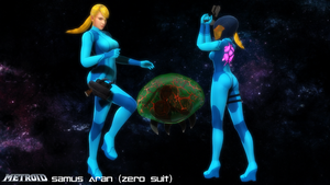 (MMD Model) Zero Suit Samus and Metroid Download by SAB64