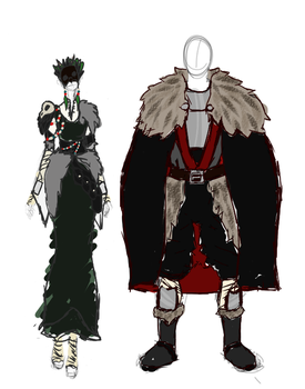 Larp outfits by SubtleBrush
