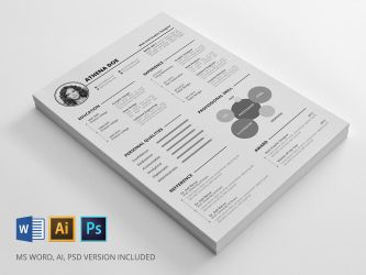 Resume | Freebie by rongmistiry