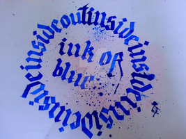 Inside Out Calligraphy Calligram by Milenist