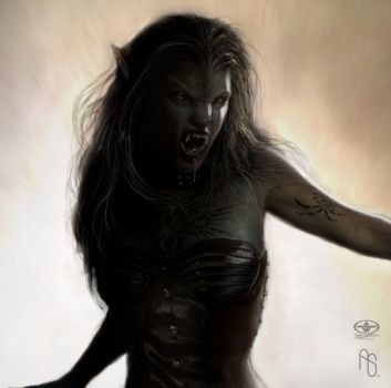 Werewolf 4 detail by aaronsimscompany
