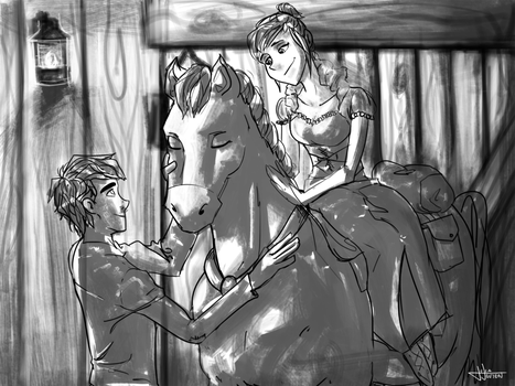 DxS AU - Princess and the Stable Boy (Dark Ages?) by DPPHAN