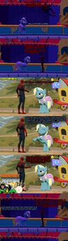 S6FinaleSpoilers random SpiderMan and Trixie comic by mattwo