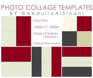 Photo Collage Templates - For web and Instagram by alsinania