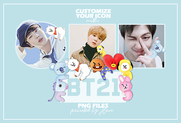 Bt21 Painted Characters PNG by han-clouds