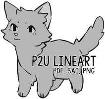 p2U Kitten Lineart by nargled