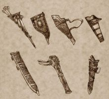 Weapon Sheathes by Concept-Art-House