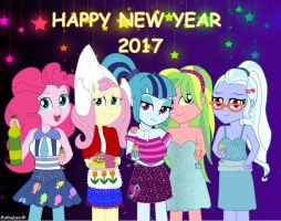 Happy 2017 from Sonata and friends by Robukun