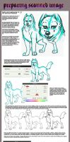 preparing lineart tutorial by ZhinChii
