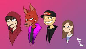 Random Sketch 16 - Favorite Youtubers by RejectedSG