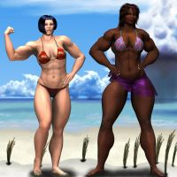 Tonga Muscle Woman, conservati by MuscleWomen-Planet