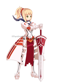 Saber Mordred by Nirama-Dama